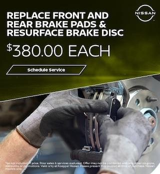 Replace Rear Brake pads & Resurface Brake Disc