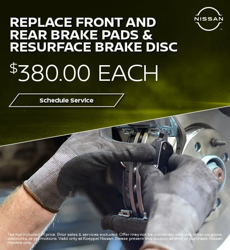Replace Rear Brake pads & Resurface Brake Disc