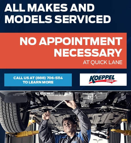 All Makes and Models Serviced - No Appointment Necessary