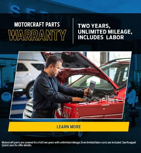 Motorcraft Parts Guarantee