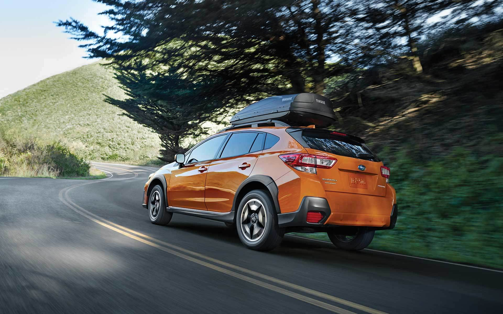 2019 Subaru Crosstrek driving up hill