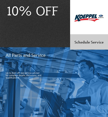 10% Off Parts and Service