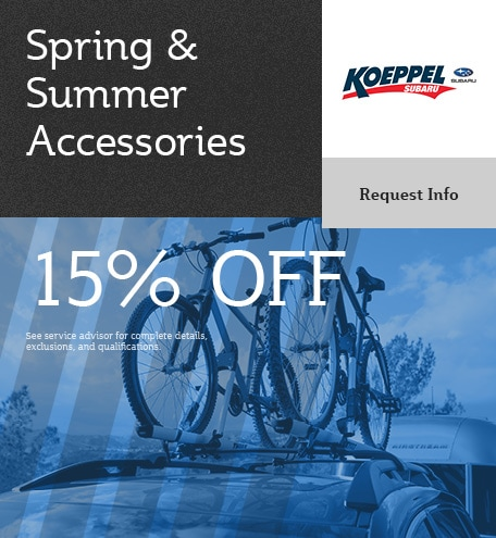 Accessories Special - 15% Off