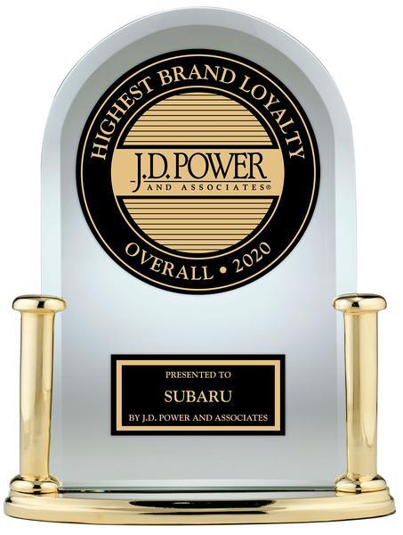 JD Power & Associates Subaru Highest Brand Loyalty Award