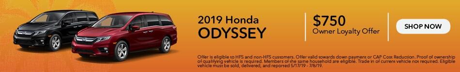 2018 & 2019 Honda Odyssey - Owner Loyalty Offer