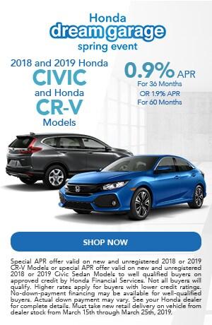 2018 and 2019 Honda Civic and Honda CR-V Models