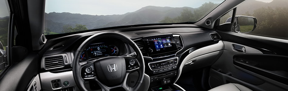 New Honda Pilot interior dashboard