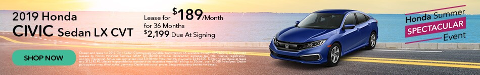 2019 Honda Civic LX - Lease