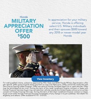 Military Appreciation Offer