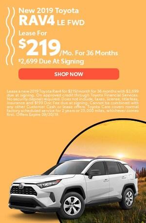 2019 Toyota RAV4- lease