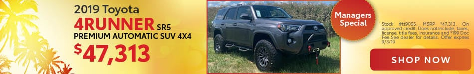 2019 Toyota 4Runner - Manager's Special