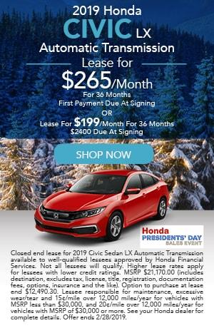 2019 Honda Civic LX Automatic Transmission