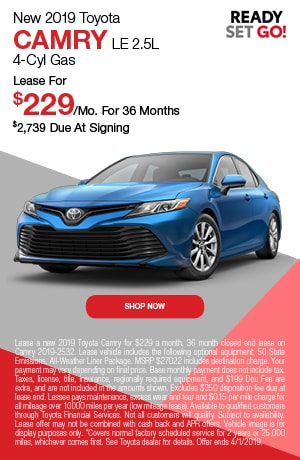2019 Toyota Camry Lease - March