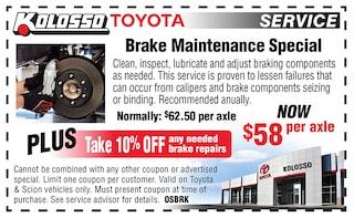 Brake Maintenance Special
