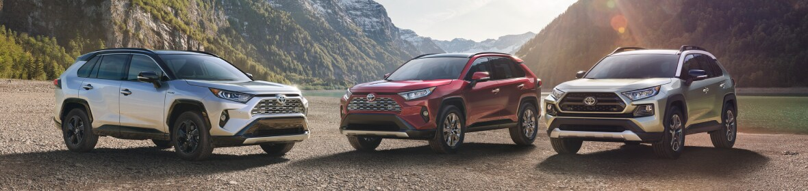 New Toyota RAV4 Lineup in the mountains