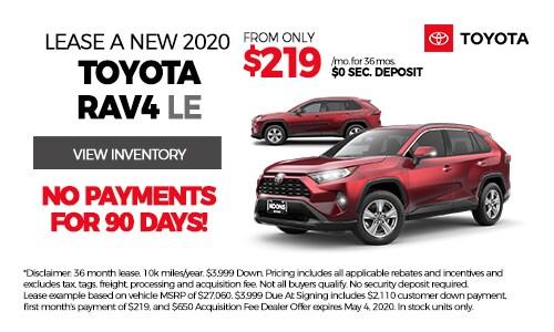 April 2020 Rav4 Toyota Lease