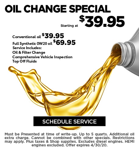 April 2020 Oil Offer - CDJR