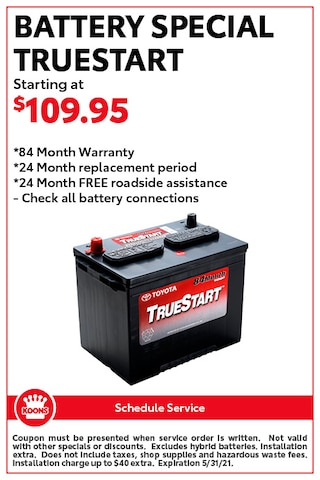 FIXED - Toyota Battery Special