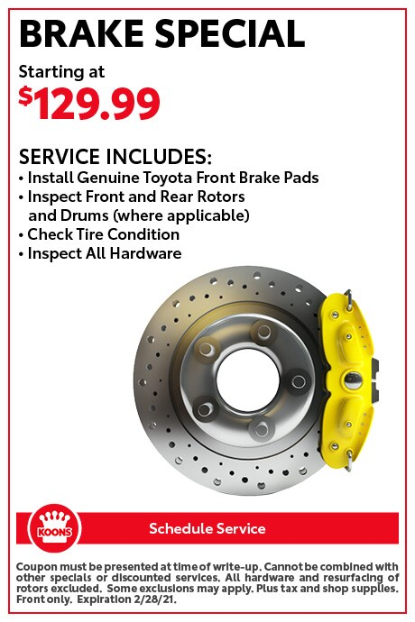 FEB - Toyota Brake Special