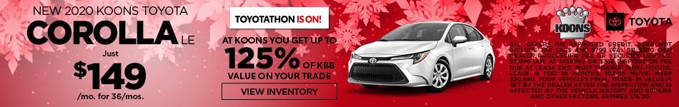 December 2020 Toyota Corolla Offer