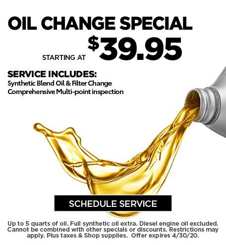 April 2020 Oil Offer - Ford