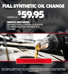 Oil Change Special - January