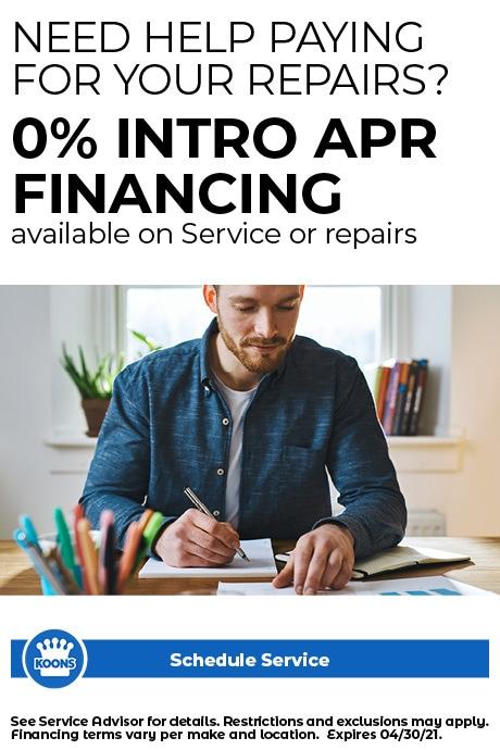 FIXED - ALL (no CDJR) 0% Financing on repairs