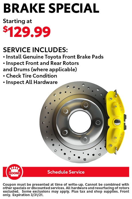 FIXED - Toyota - Brake Special