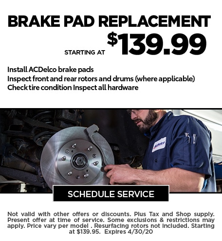 April 2020 Brake Offer - Chevy