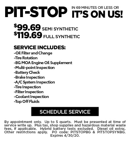 April 2020 Pit Stop Offer - Ford