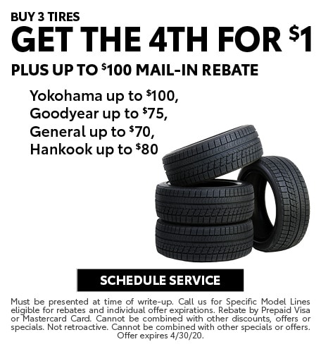 April 2020 Tire Offer - Toyota