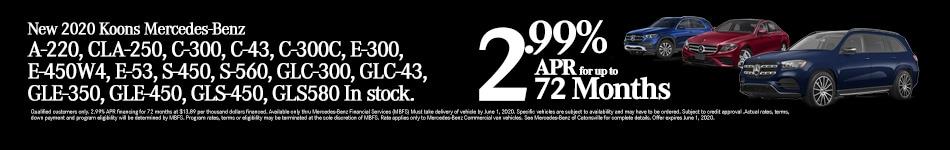 Mercedes Benz 2.99% for 72mo