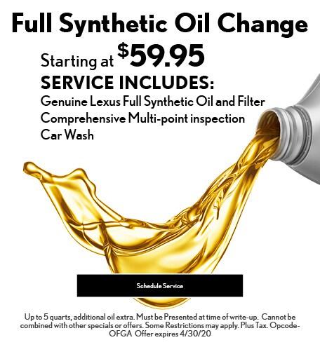 April 2020 Oil Offer - Lexus
