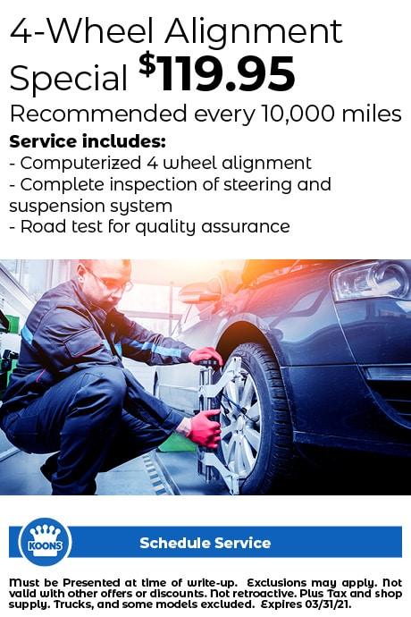 FIXED - ALL (no L/V) 4 Wheel Alignment $119.95