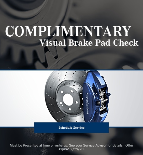 February Brake Pad Special - Mercedes