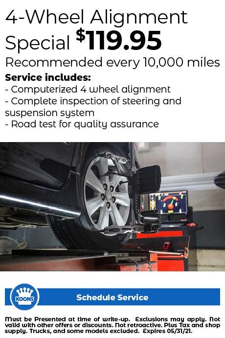 FIXED - ALL (no L/V) - 4 Wheel Alignment $119.95