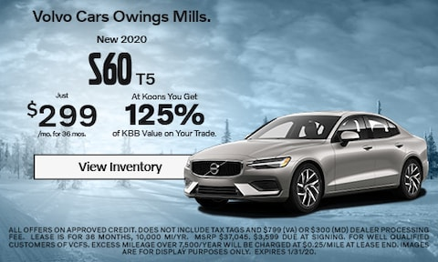 January 2020 Volvo S60 Offer