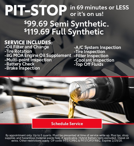 January Pit Stop Special - Toyota