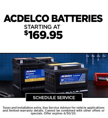 April 2020 Battery Offer - Chevy