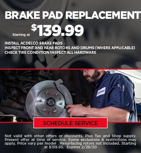 February Brake Pad Special - Chevy