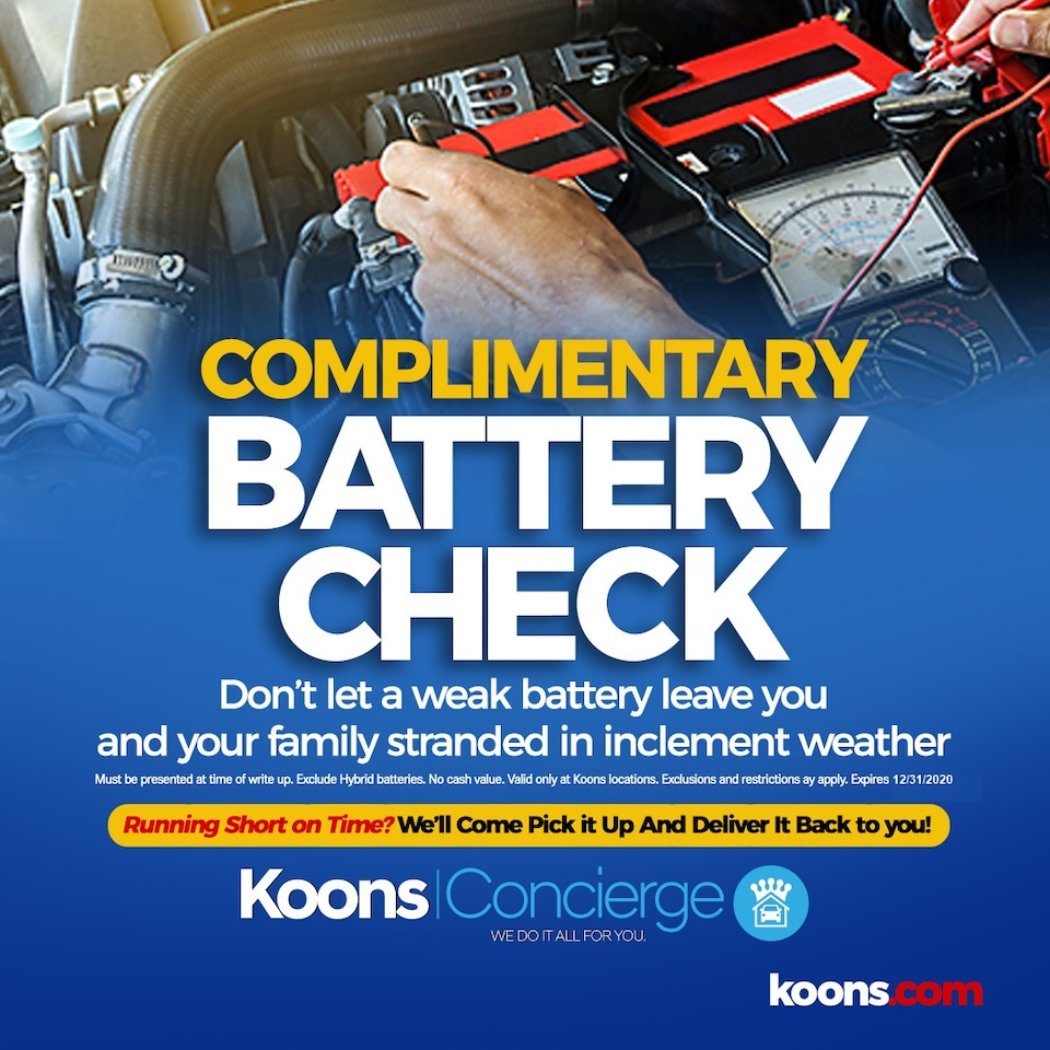 Complimentary Battery Check