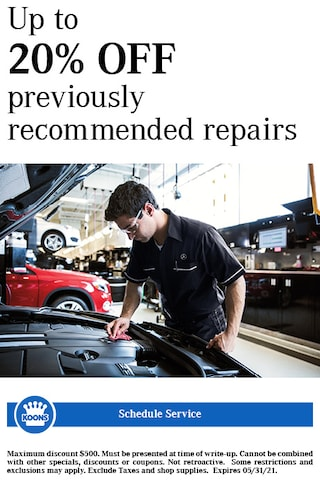 FIXED - MB - 20% off Previously recommended repairs