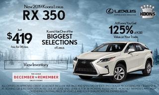 November Lexus RX 350 Special
