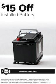 Jan - Volvo $15 off Battery