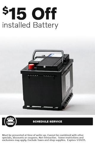 Jan - Volvo $15 off Battery