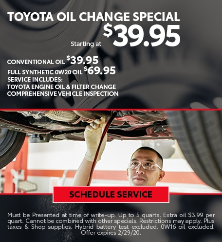 February Oil Change Special - Toyota