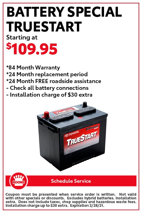 FEB - Toyota Battery Special