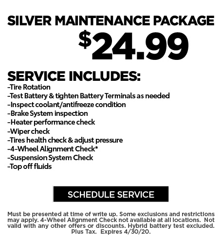 April 2020 Silver Maintenance Offer - Ford