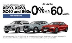 April 2020 Volvo 0% for 60 mo