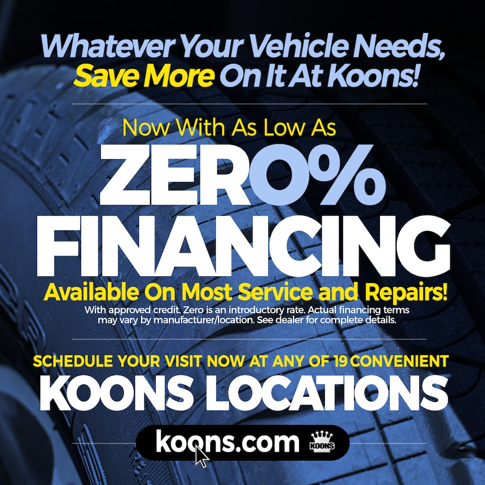 0% Intro APR Financing Available on Service and Repairs